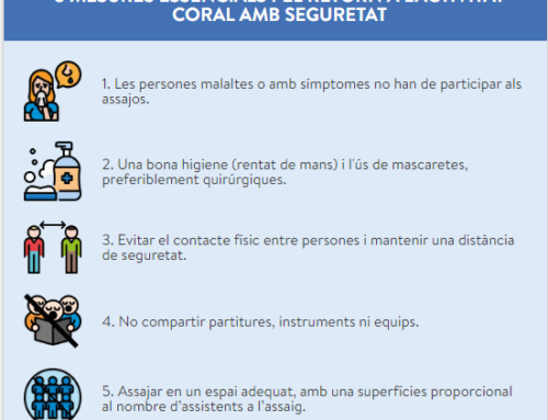RECOMENDACIONES PARA UNA PRÁCTICA CORAL SALUDABLE ANTE LA COVID19