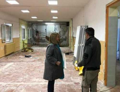 Obras del nuevo Centro de Servicios para la gente mayor de Aitona