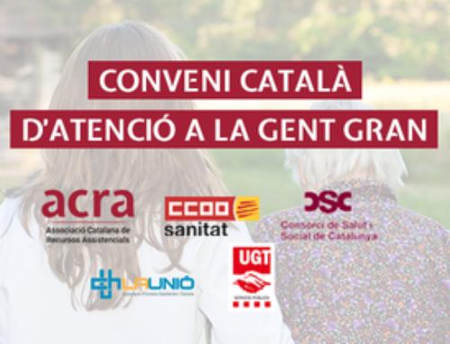 Acord històric per constituir el primer conveni català d'atenció a la gent gran