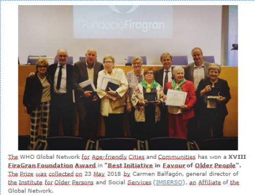 Premi Fundació FiraGran 2018 a l'OMS