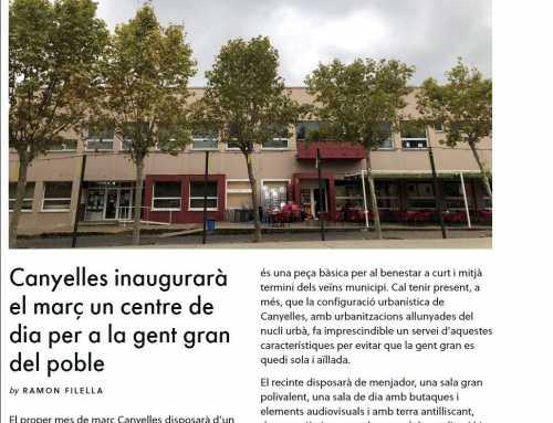 L'alcaldessa de Canyelles explica el projecte del Centre de Dia