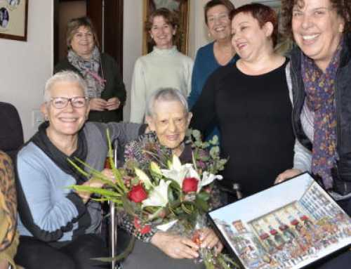 Homenaje a la centenaria manresana Magdalena Avellana Torruella