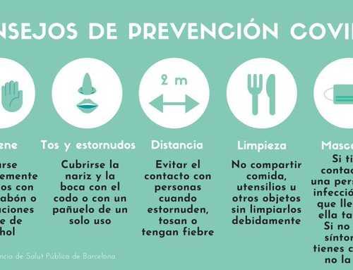 Consells de prevenció del Coronavirus