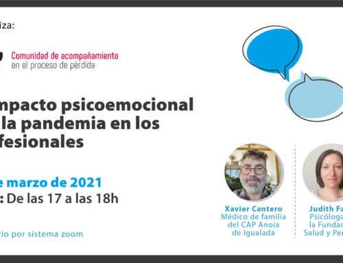 Webinar – Impacte psicoemocional per la pandèmia en professionals
