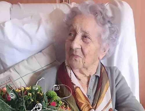 María, la persona más vieja de Cataluña, hace 113 años