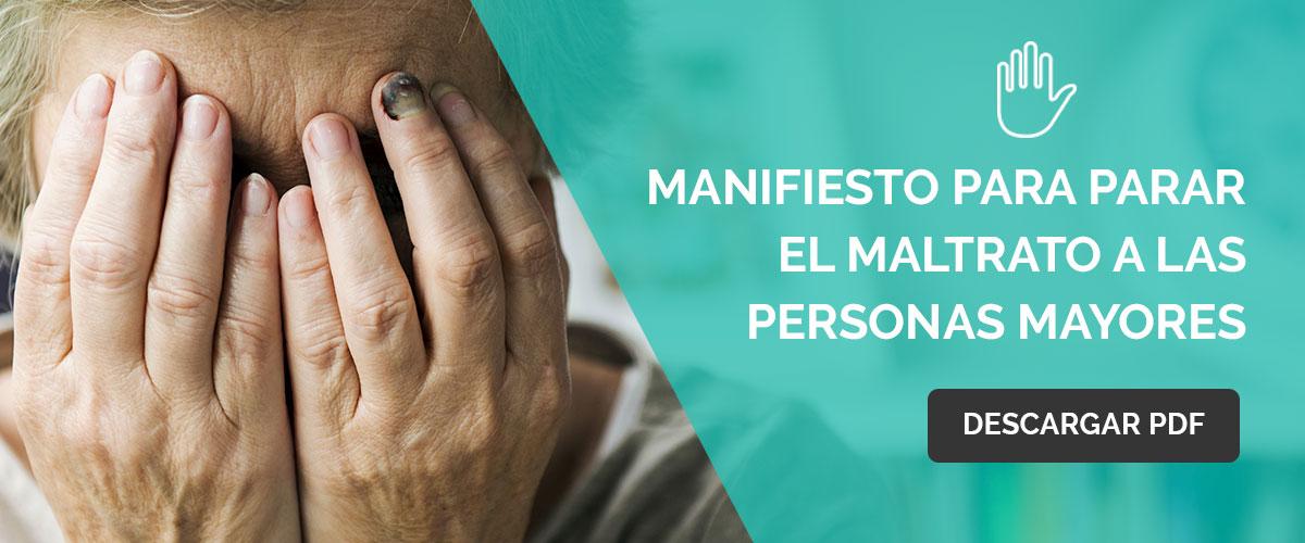 MANIFIESTO PARA PARAR EL MALTRATO A LAS PERSONAS MAYORES