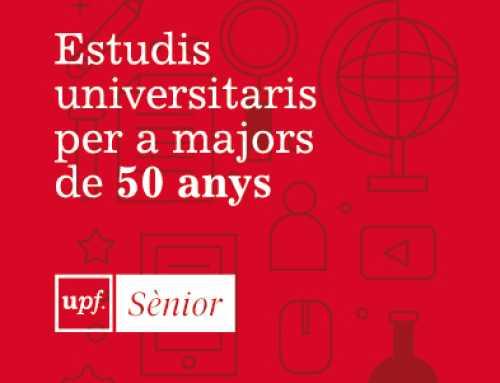 Si tens més de 50 anys i ganes d'aprendre i/o actualitzar-te, UPF Sènior és el teu programa